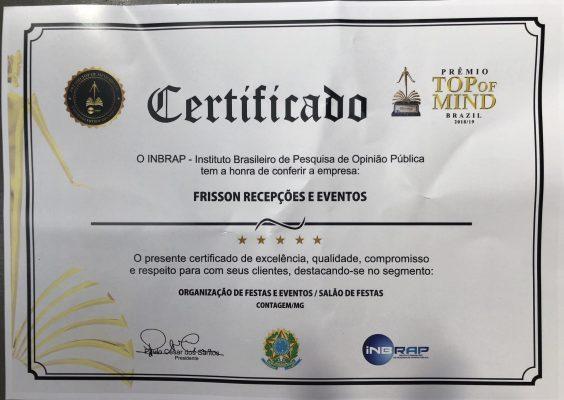 Prêmio  top of mind Brasil 2019